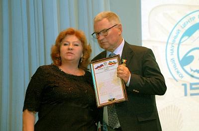 Валентина Маринова поздравила от имени Донского парламента коллектив Южного научного центра РАН